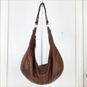 Coach LARGE Soho Dylan Tobacco Pebble Leather Hobo
